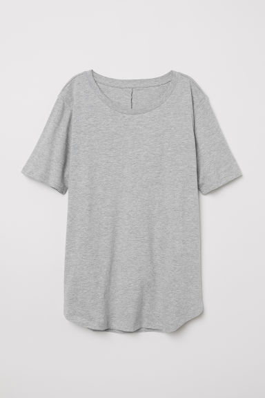 T-shirt - Grey marl - Ladies | H&M CN