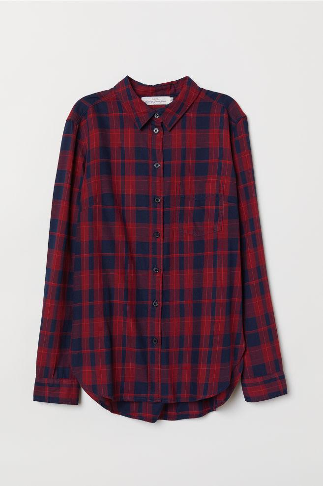 c3017c4fe Camisa de cuadros - Burdeos/Cuadros - MUJER | H&M ES