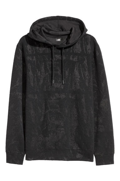 Hooded top - Black/Glittery -  | H&M GB