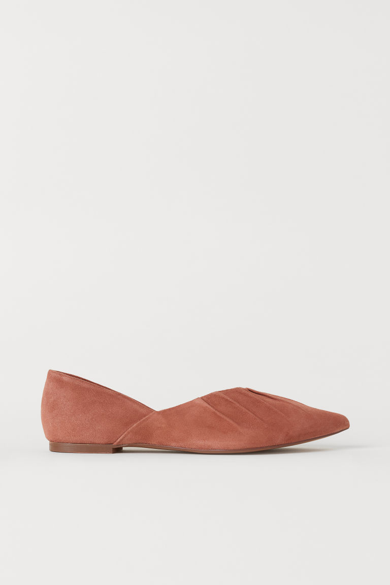 Suede ballet pumps - Light brown - Ladies | H&M