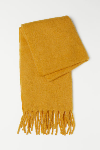 Mohair-blend scarf - Yellow - Ladies | H&M