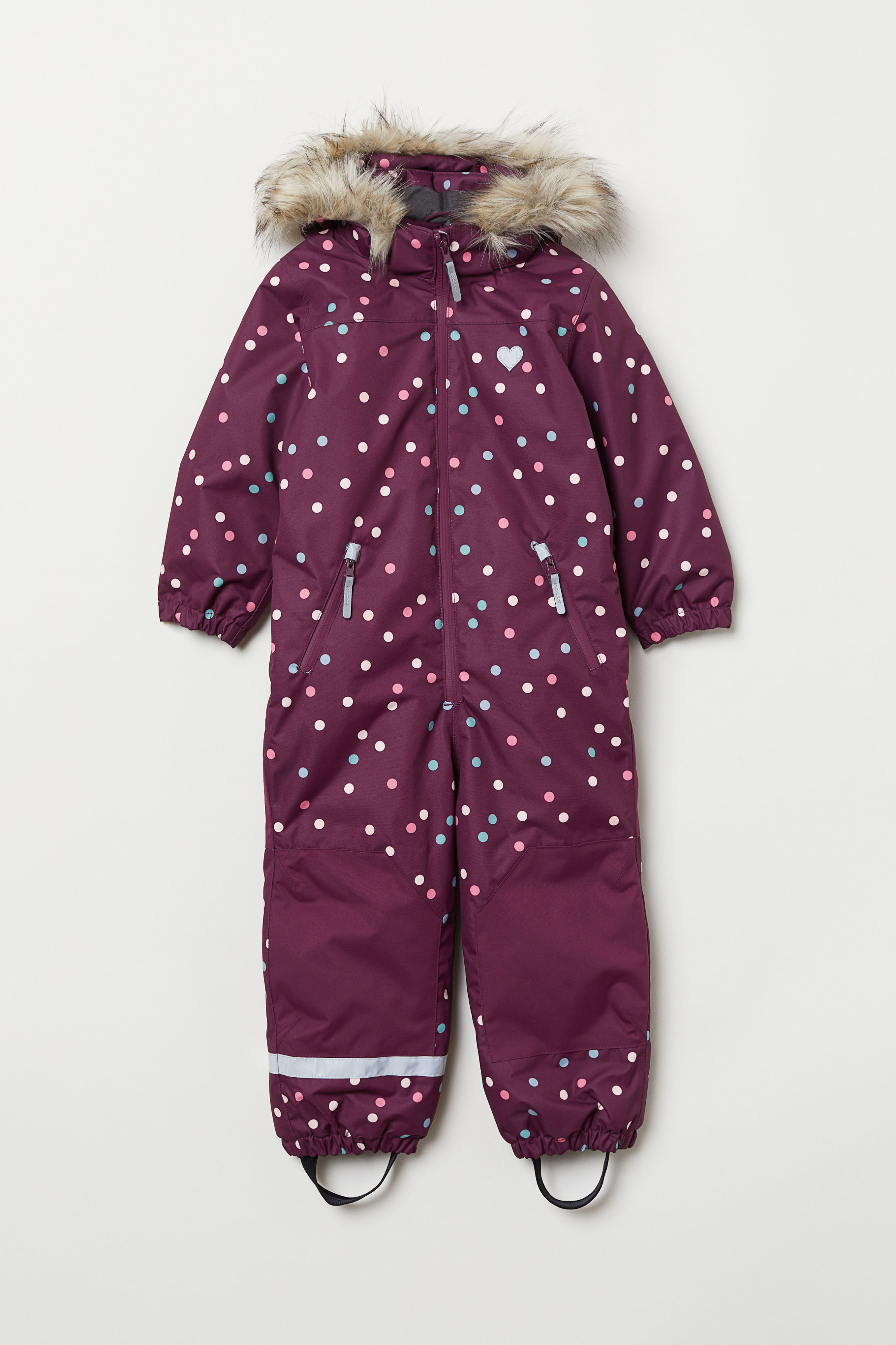 b02814847 Padded Snowsuit - Pink/patterned - Kids | H&M US
