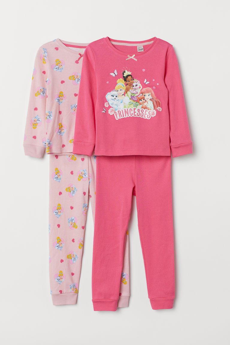 2-pack pyjamas - Pink/Princesses - Kids | H&M