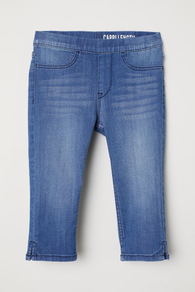 Capri denim leggings - Denim blue - Kids | H&M CN