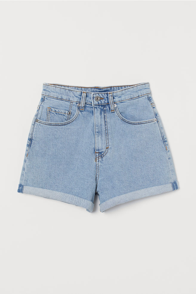 9445cb356d455f ... Mom Shorts High Waist - Denim blue - | H&M ...