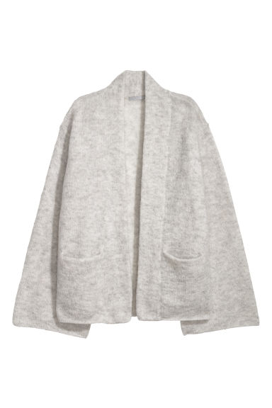 Mohair-blend cardigan - Light grey -  | H&M