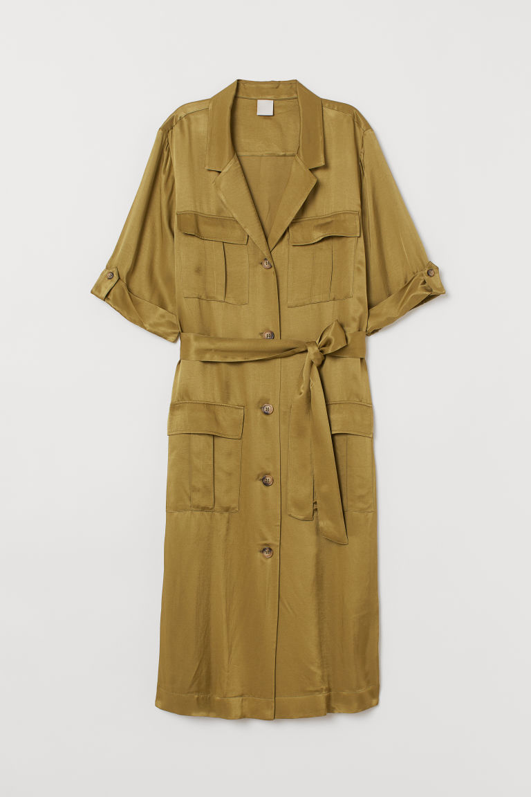 Cargo Dress - Olive green - Ladies | H&M US