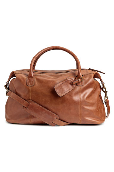 Leather weekend bag - Light brown - Men | H&M