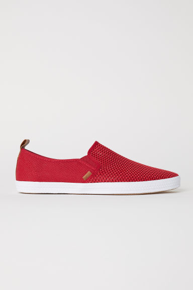 Slip-on trainers - Red - Men | H&M