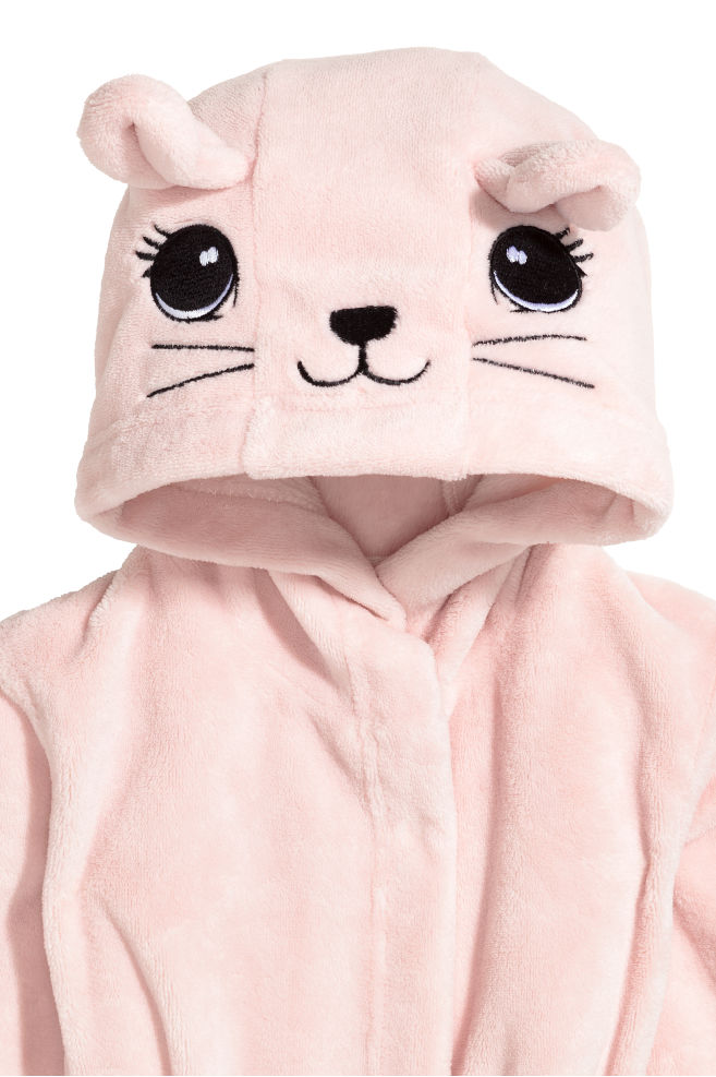 Hooded dressing gown - Light pink - Home All  9571767d5