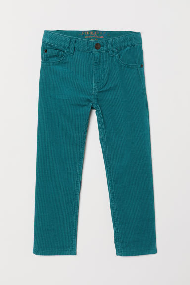 Pantaloni in velluto a costine - Turchese scuro - BAMBINO | H&M IT