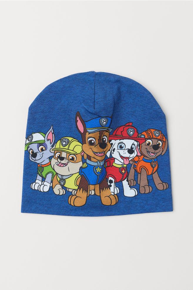cc282bfacaa2d Printed jersey hat - Blue marl Paw Patrol - Kids