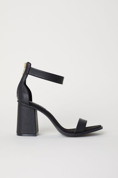 Block-heeled sandals - Black - Ladies | H&M CN