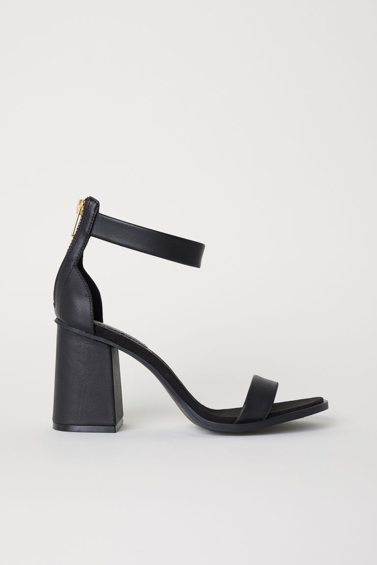 Block-heeled sandals - Black - Ladies | H&M