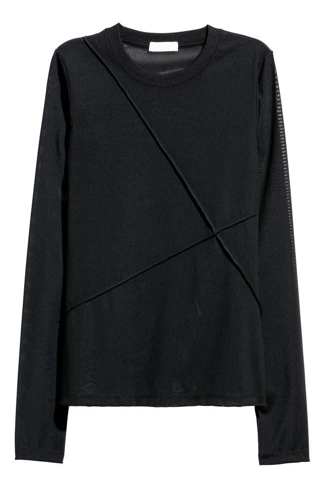 3f88261e Topp i mesh - Sort - DAME | H&M NO
