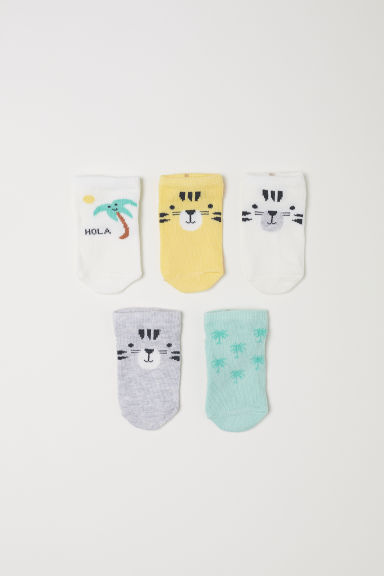 5-pack trainer socks - Yellow/Tiger - Kids | H&M CN