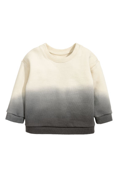 Cotton sweatshirt - Beige/Grey-toned - Kids | H&M CN