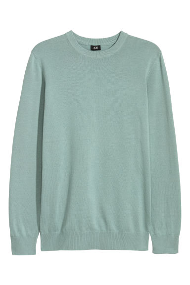 Fine-knit jumper - Green - Men | H&M GB