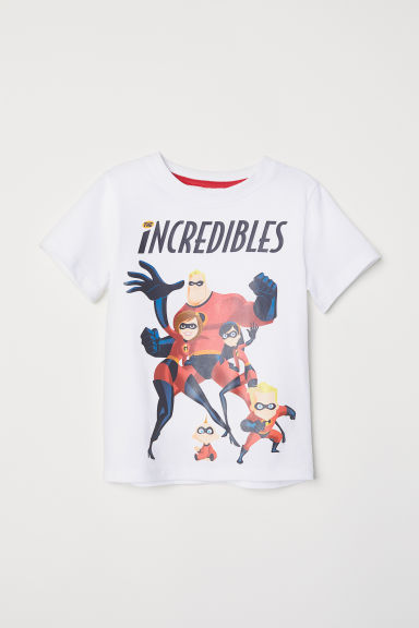 Printed T-shirt - White/The Incredibles - Kids | H&M