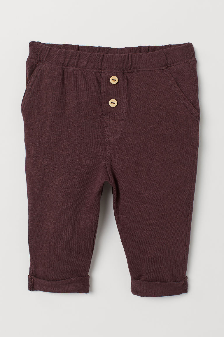 Pantaloni in jersey flammé - Rosso scuro - BAMBINO | H&M CH