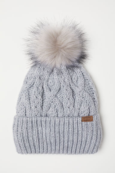 Knitted hat - Light grey -  | H&M CN