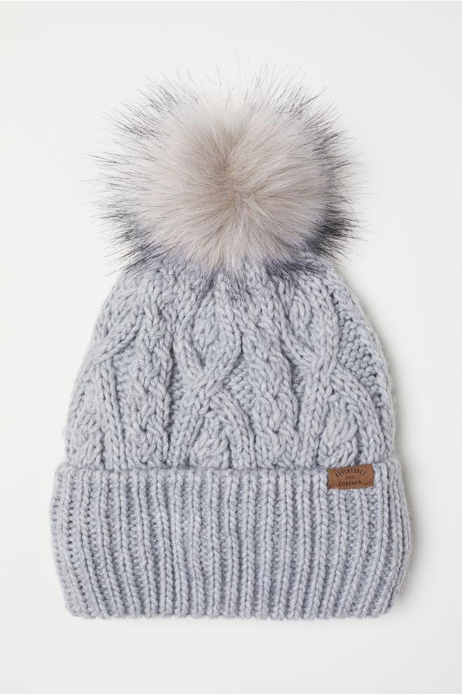 b2be9cf3 Knit Hat - Light gray - Kids | H&M ...