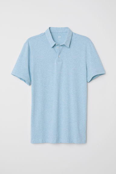 Polo Slim fit - Azzurro mélange - UOMO | H&M IT