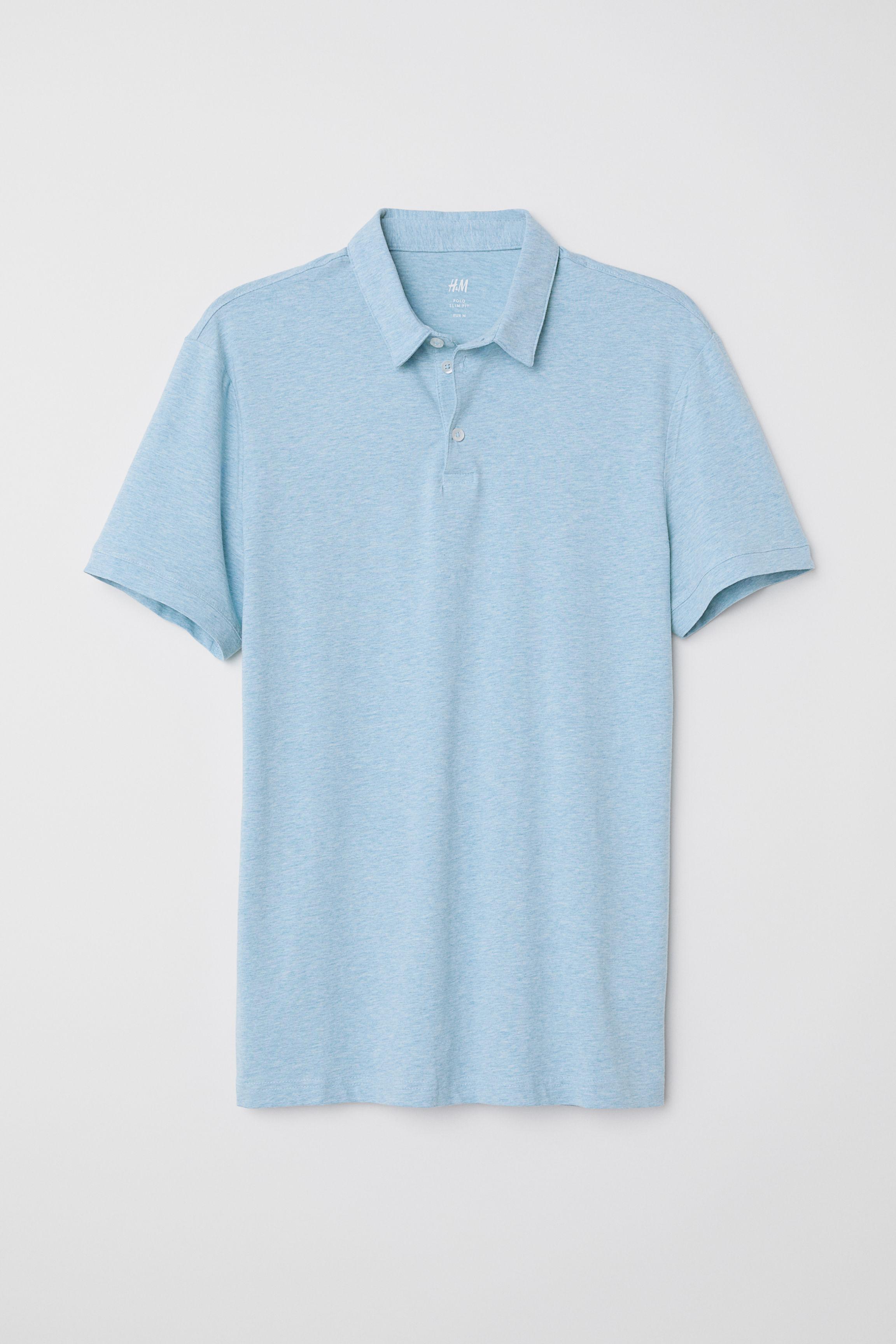 03c15210748 Polo Shirt Slim fit - Black - Men   H&M US