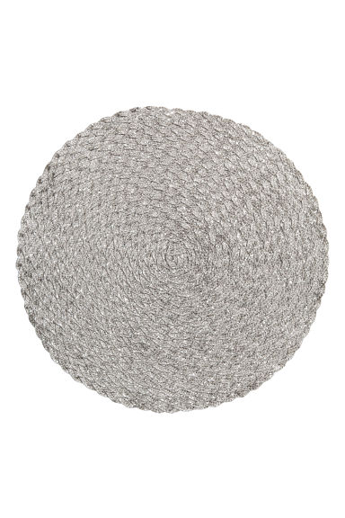 Glittrig bordstablett - Silver - Home All | H&M SE