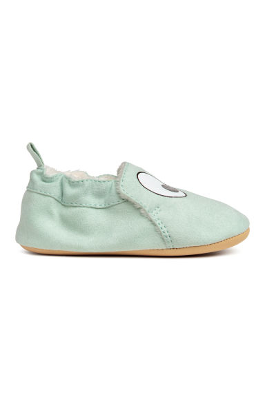 Soft slippers - Light green/Eyes -  | H&M