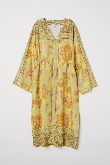 V-neck kimono - Light yellow - Ladies | H&M GB