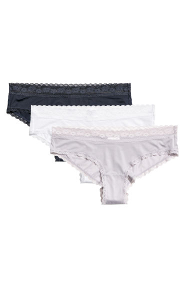 3-pack hipster briefs - Dark blue - Ladies | H&M