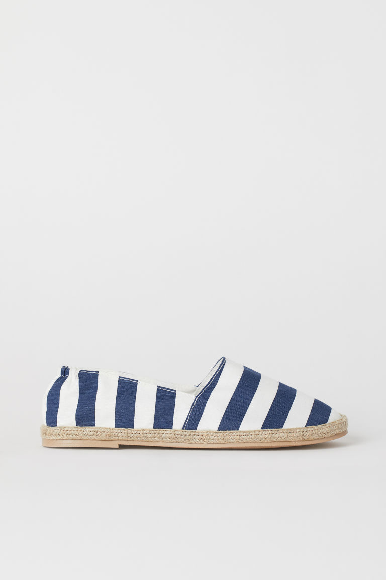 Espadrilles - Dark blue/White striped -  | H&M