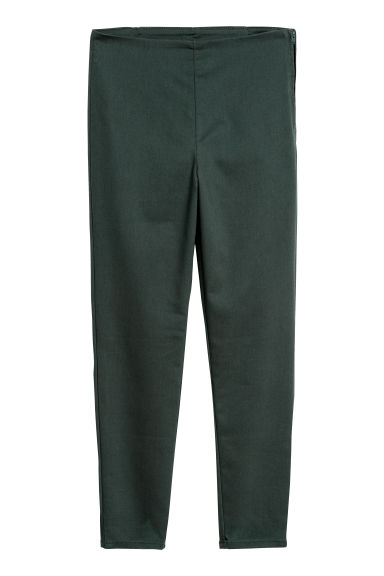 Stretch trousers - Dark green - Ladies | H&M