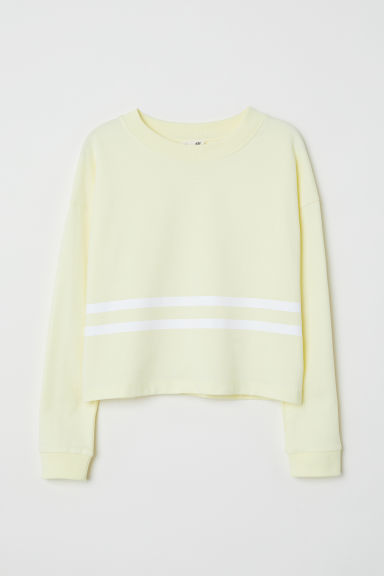 Short sweatshirt - Light yellow -  | H&M