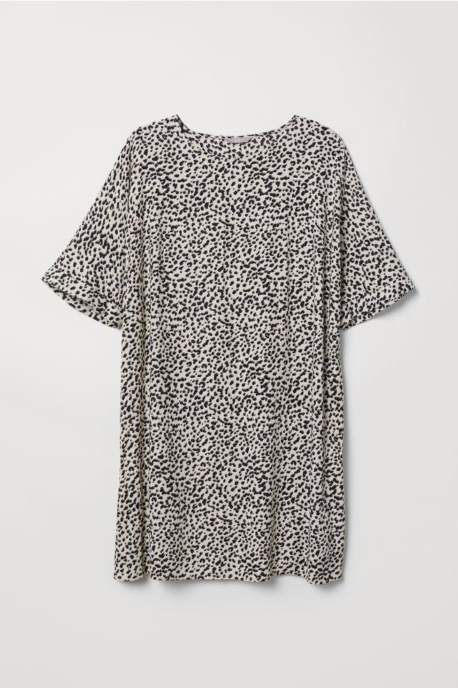 2c9caeca H&M+ Kort kjole - Beige/Leopardmønster - DAME | H&M ...
