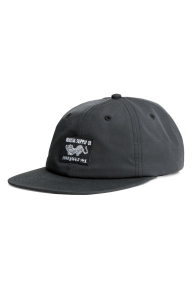 Cap with an appliqué - Anthracite grey -  | H&M IE