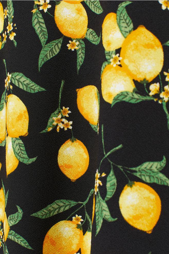 0560bf548479 ... Kort kjole - Sort Citroner - DAME