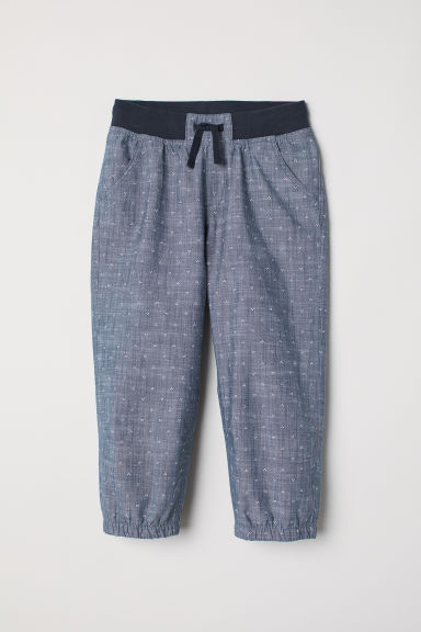 3/4-length pull-on trousers - Dark blue/Spotted - Kids | H&M CN