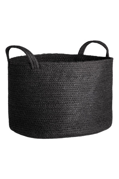 Jute storage basket - Black -  | H&M CN