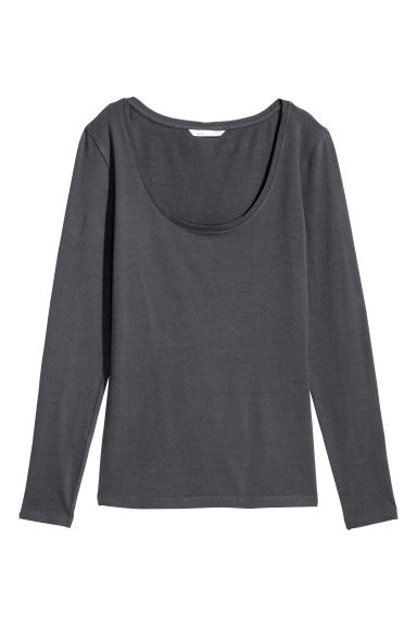 Jersey top - Grey-blue - Ladies | H&M IE