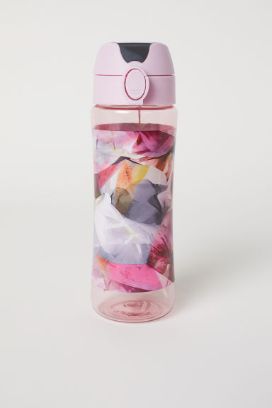 Water bottle with a lid - Pink/Patterned - Ladies | H&M CN