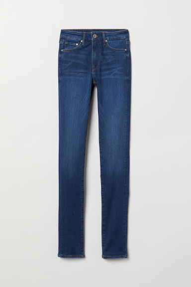 Shaping Skinny Regular Jeans - Dark blue - Ladies | H&M