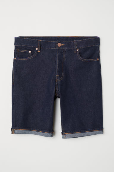 Denim shorts Slim fit - Dark denim blue - Men | H&M
