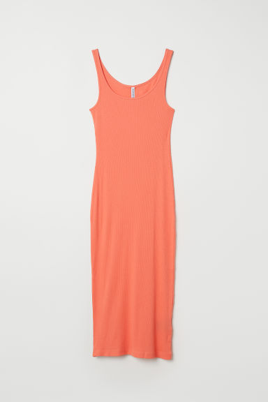 Ribbed dress - Orange -  | H&M CN