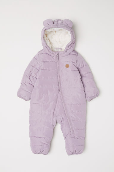 Pile-lined all-in-one suit - Light purple - Kids | H&M