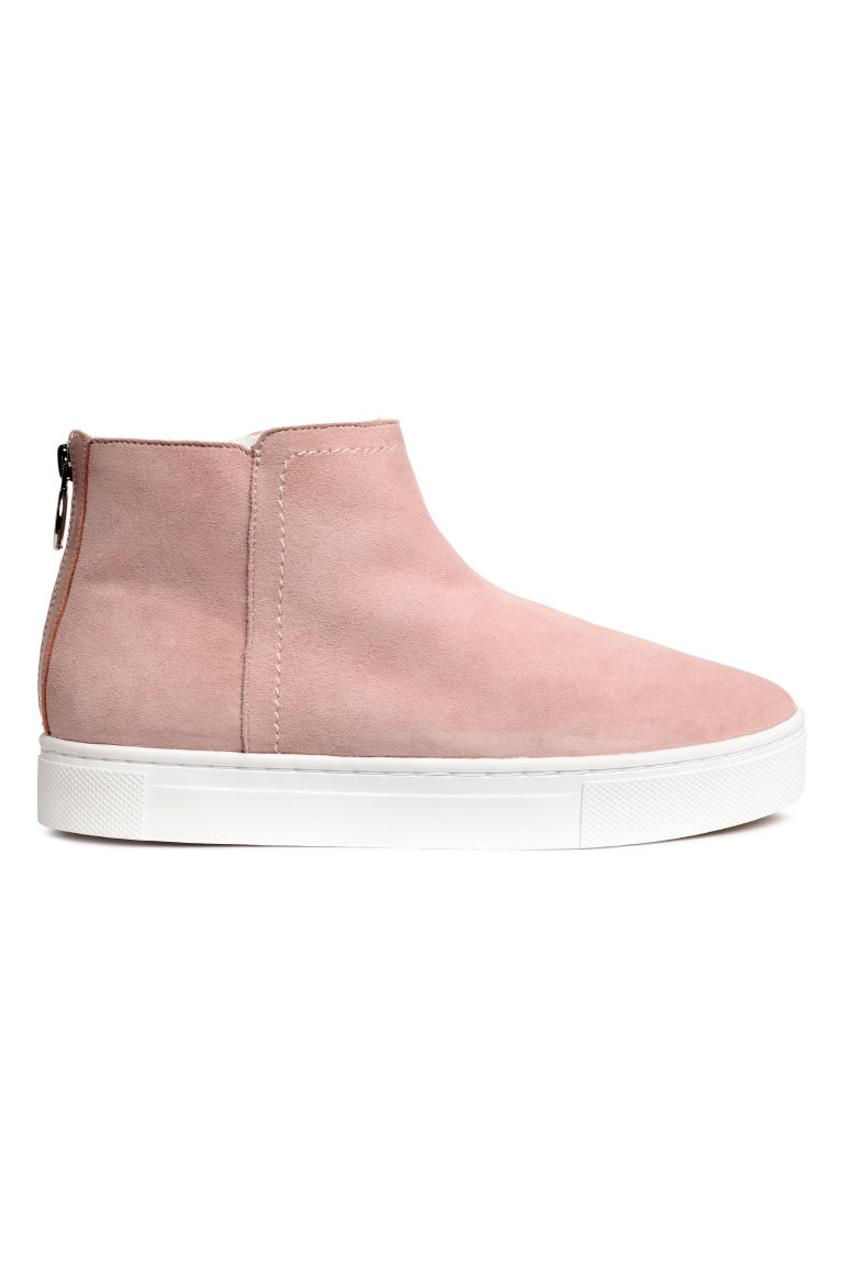 Lined suede boots - Pink - Ladies | H&M CN