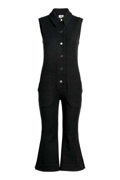 Cropped jumpsuit - Black - Ladies | H&M