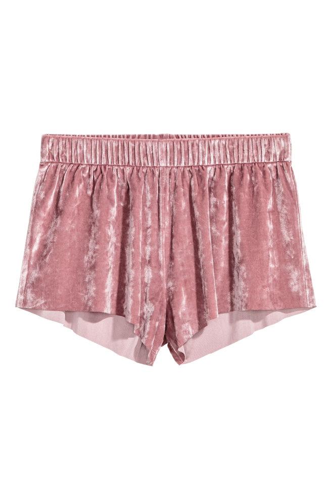 Crushed velvet shorts - Old rose - Ladies  3c25e97a1
