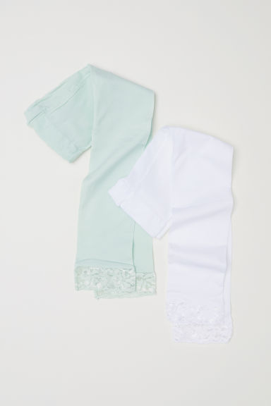 2-pack leggings - Light green/White - Kids | H&M